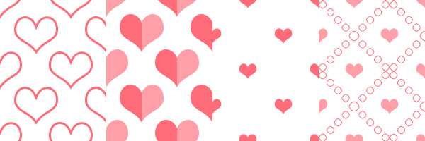 Photoshop heart pattern pack