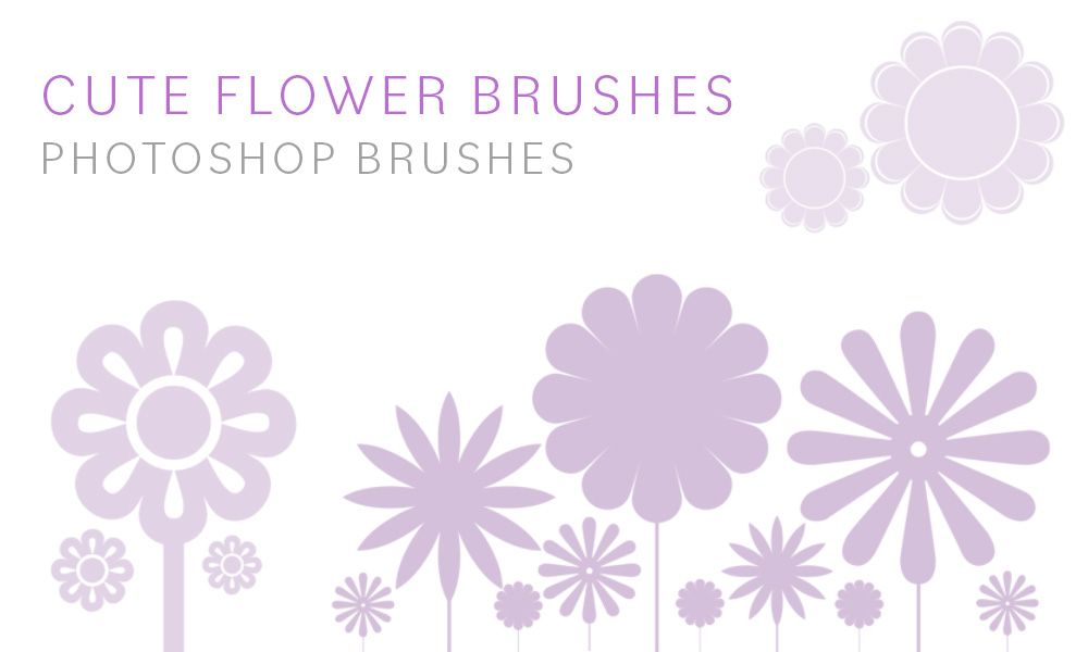 Cute Flower Brushes