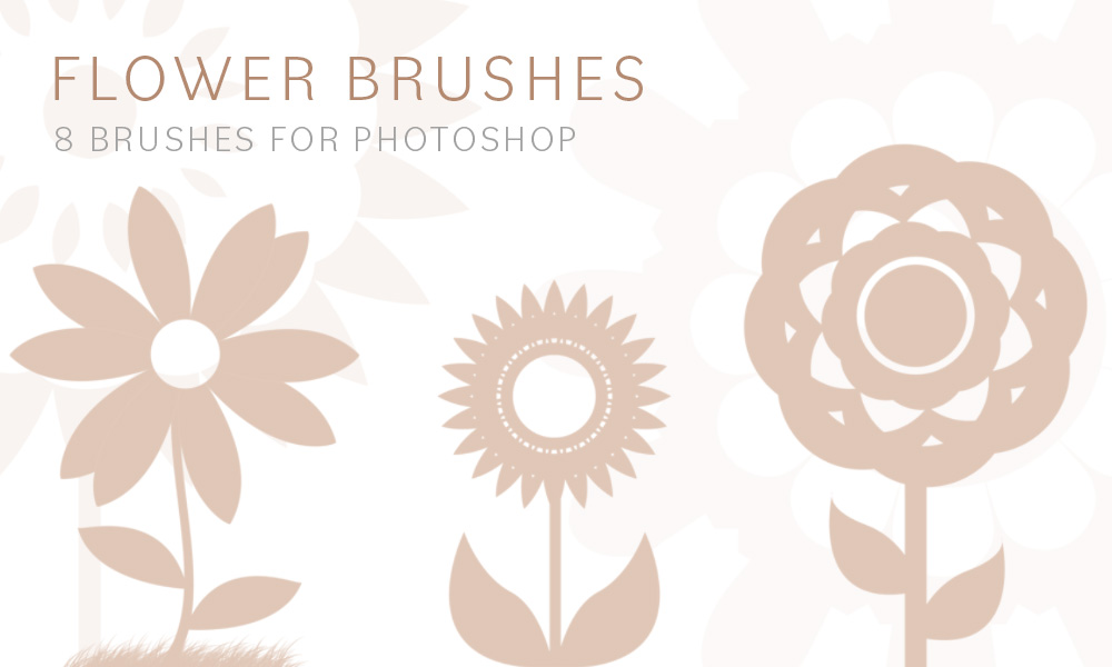 Flower Brushes Pack 3