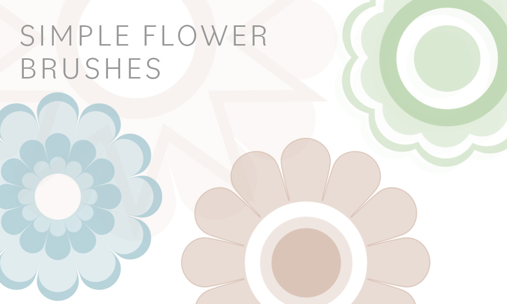 Simple Flower Brushes
