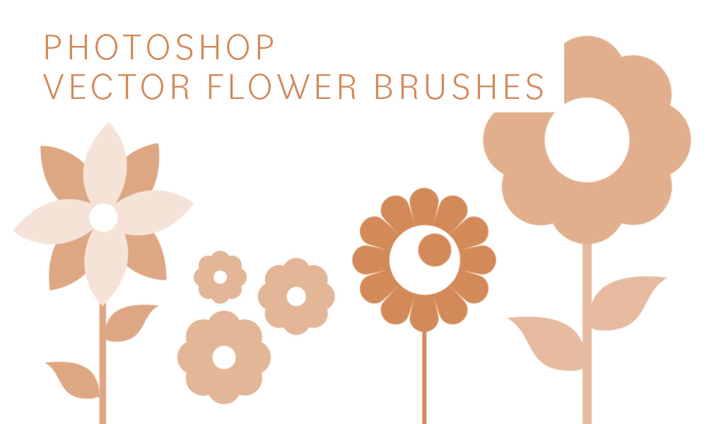 Photoshop vector flower brushes