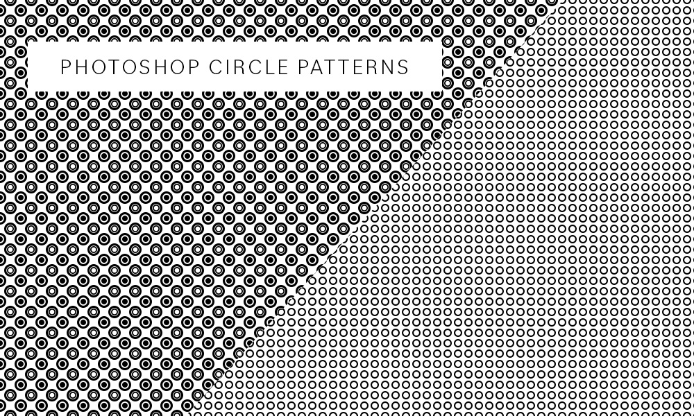 Photoshop circle patterns