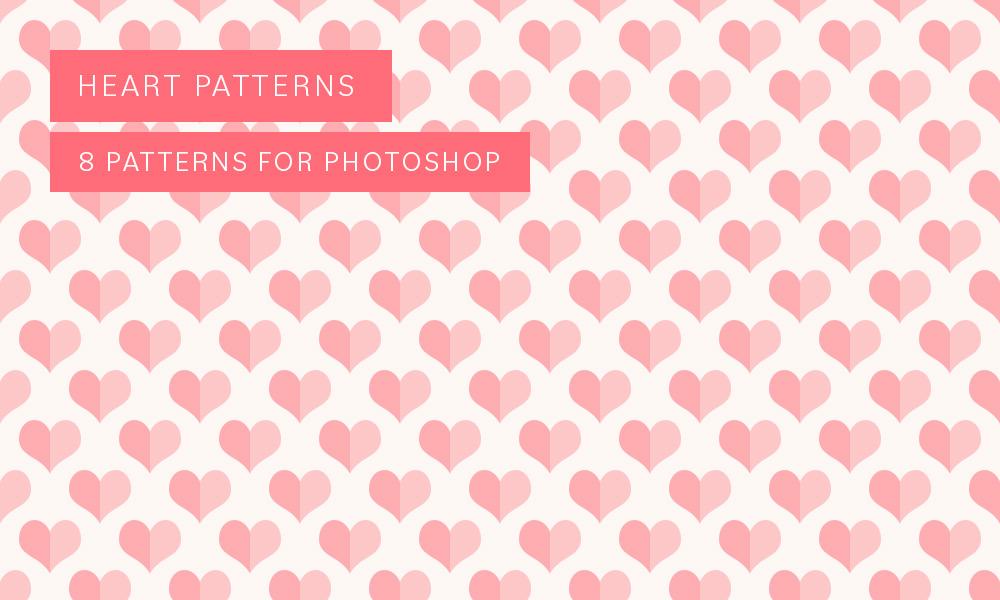 Photoshop heart pattern pack