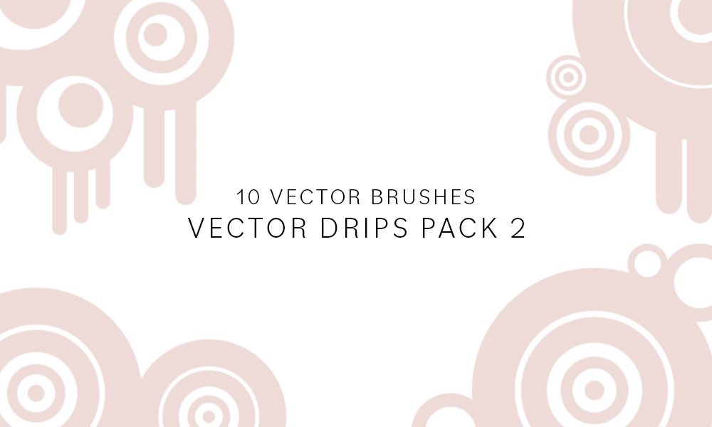 Vector Drip Brushes Pack 2