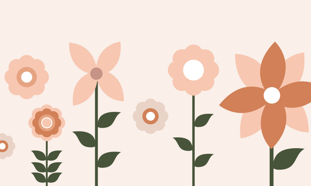 Vector flowers PSD